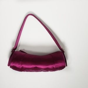 Ann Taylor Evening Bag Purse Satin New Purple
